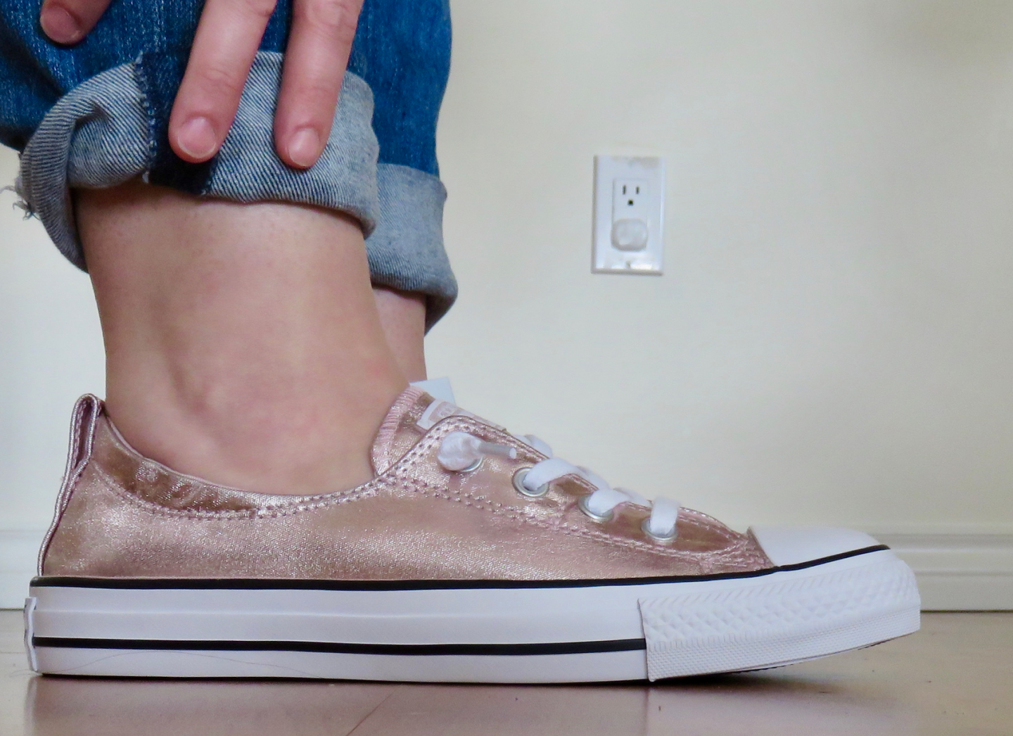 converse all star low rose quartz metallic