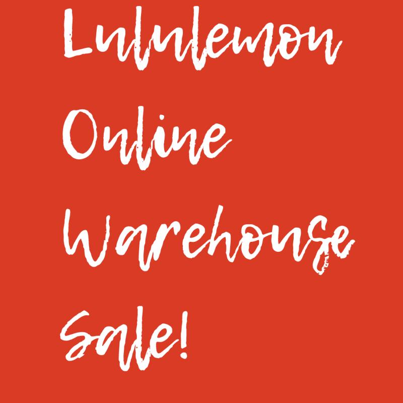 Lululemon Online Warehouse Sale 2017