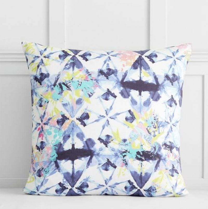 Pottery Barn Teen IVIVVA SHIBORI FLORAL EURO PILLOW COVER