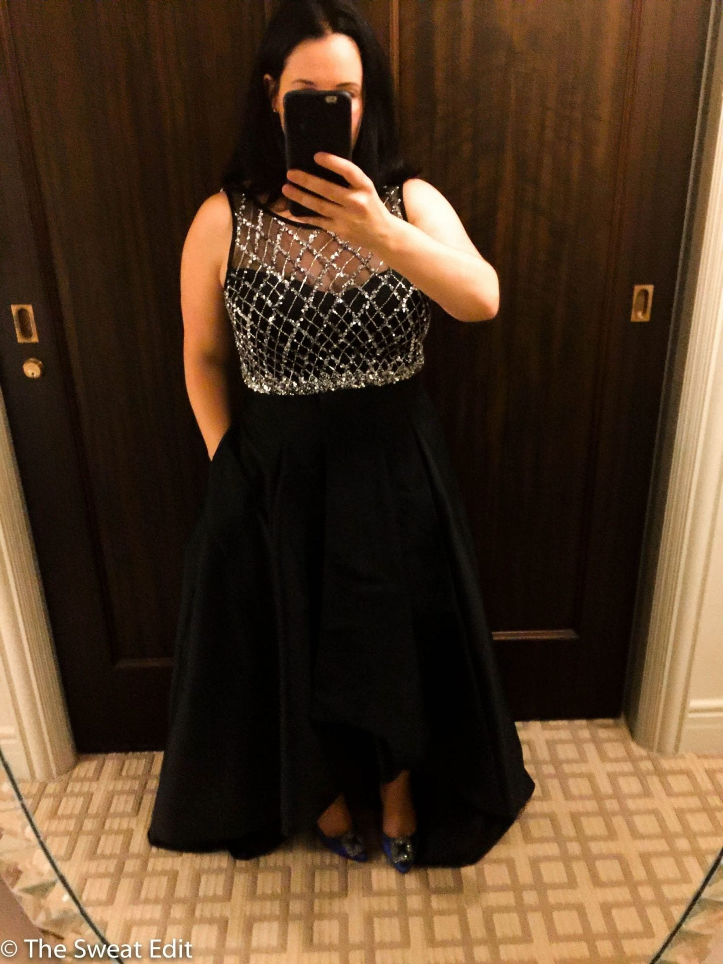 Adrianna Papell High Low Ballgown