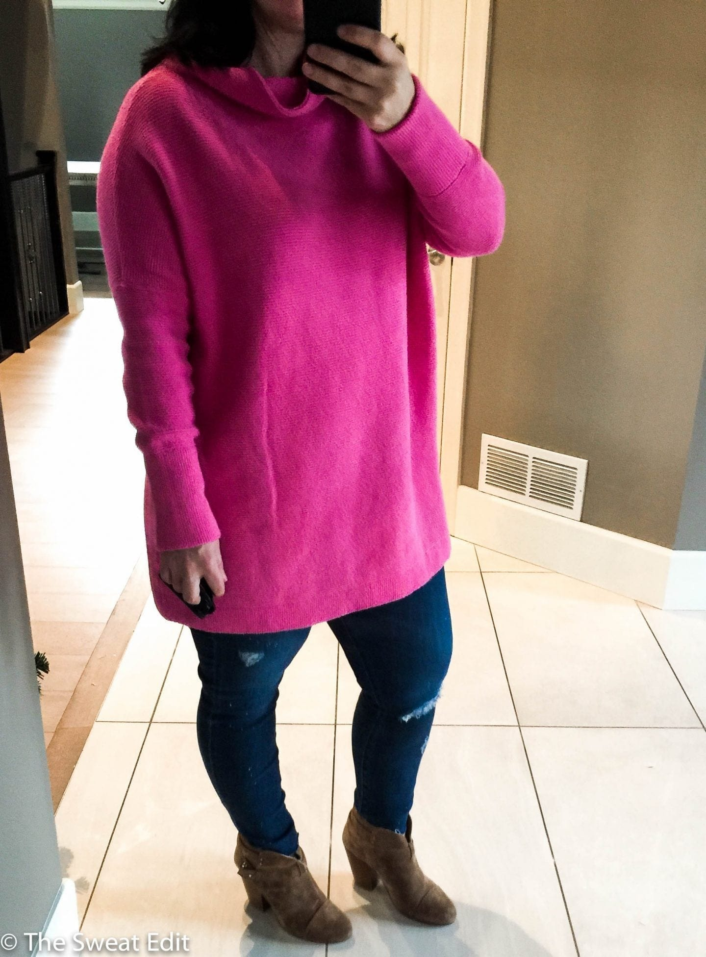The Perfect Pink Sweater Free People Ottoman Slouchy Tunic