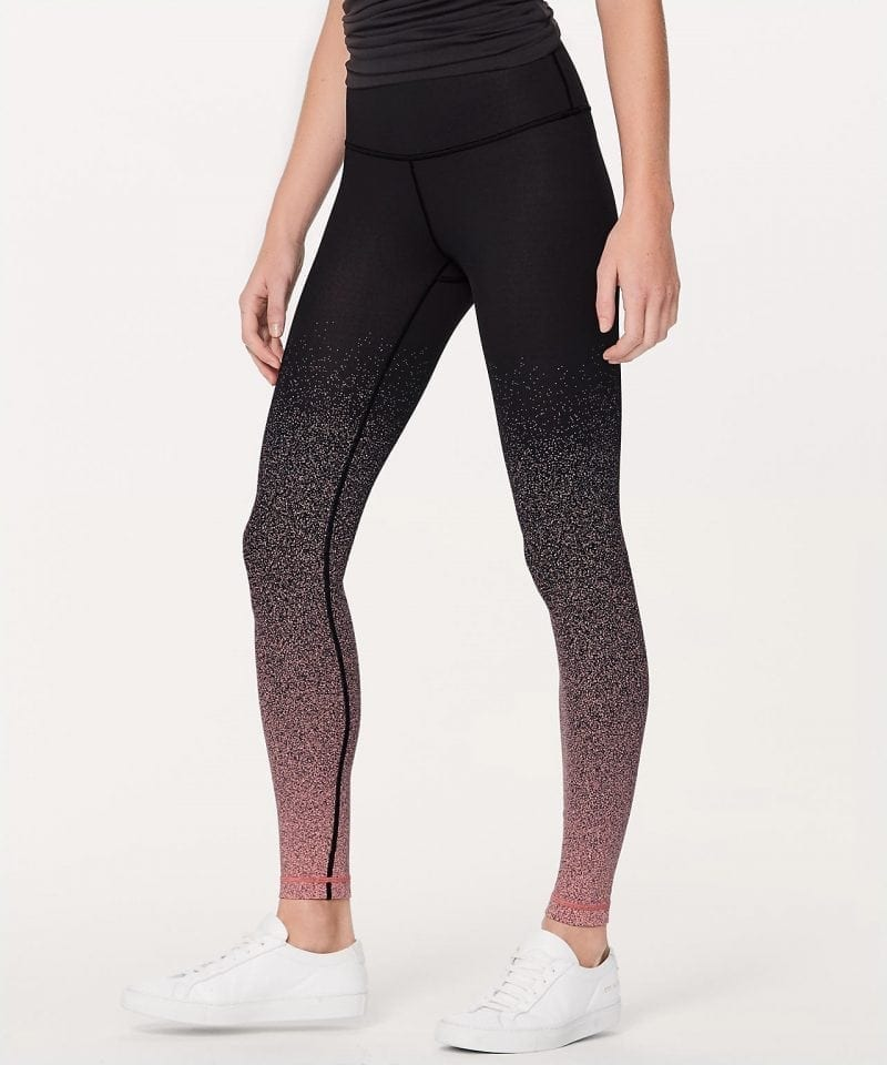 Ombre Speckle Stop Jacquard Luon Black Yum Yum Pink