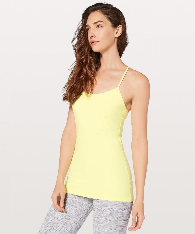 Power Pose Tank - Sheer Lemon