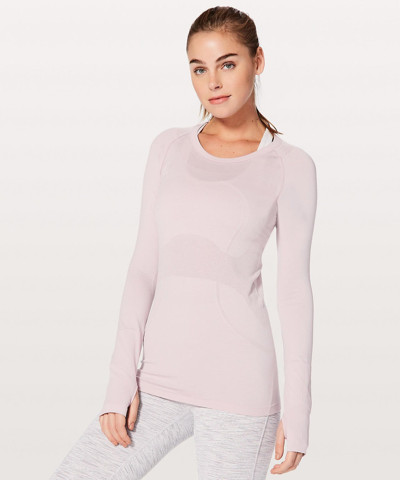 Swiftly Tech LS Crew Porcelain Pink