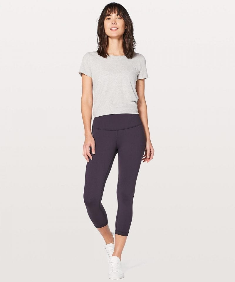 Wunder Under Crop Hi Rise Boysenberry