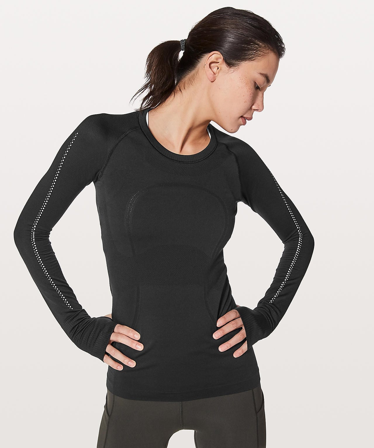 Swiftly Tech Long Sleeve Crew Reflective
