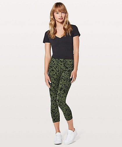 Align Crop Efflorescent Barracks Green Black