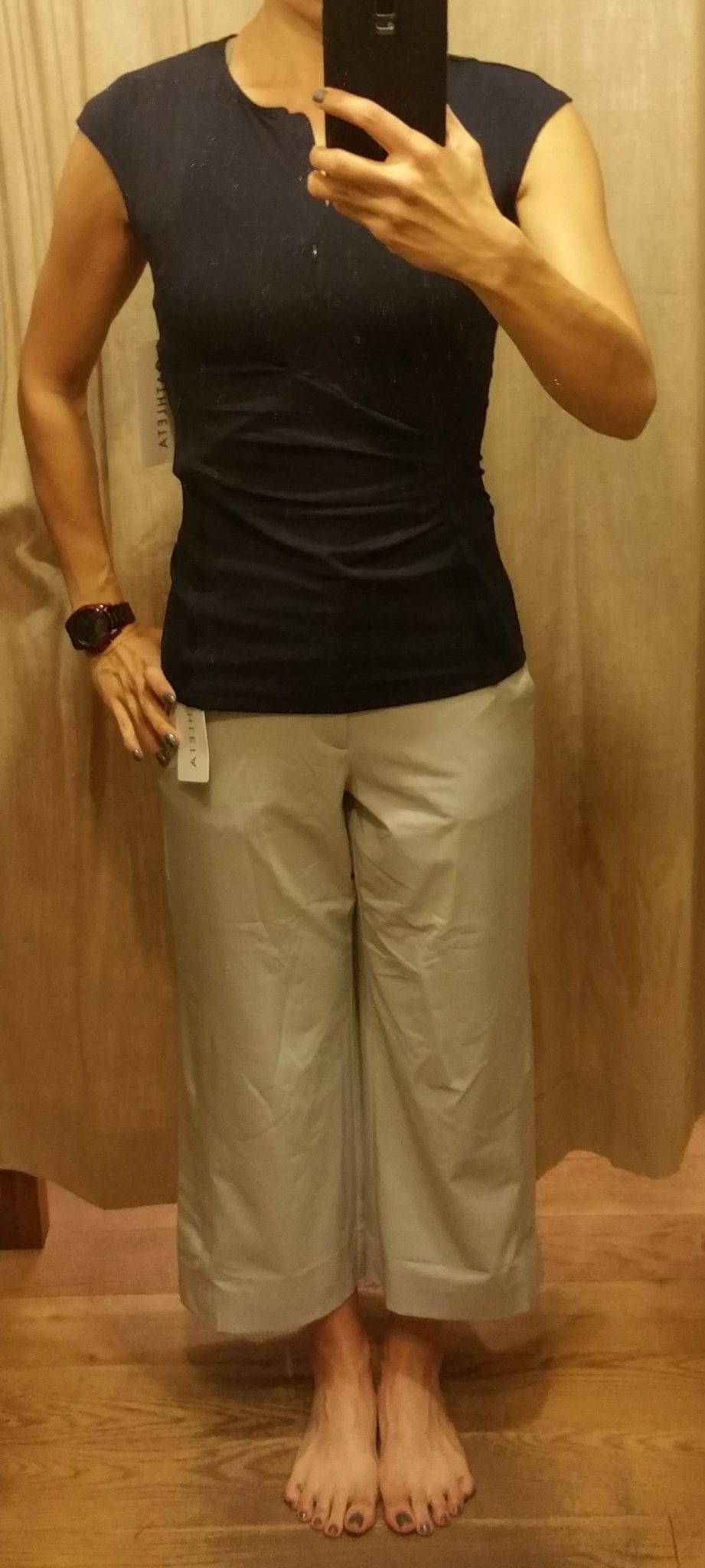 Athleta Tribeca Crop Pant and Pacifica Wrap Tank