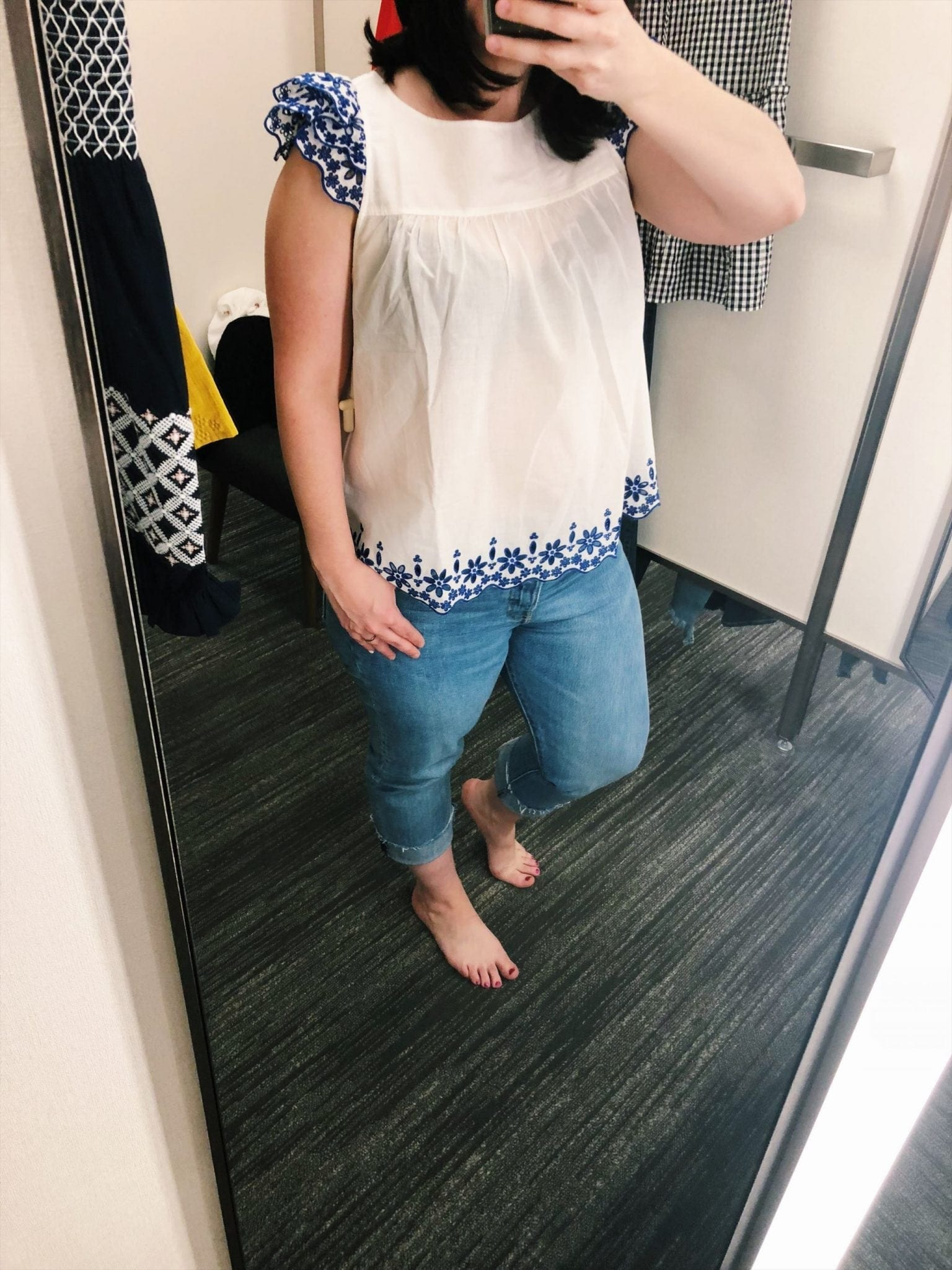 Madewell Embroidered Story Top