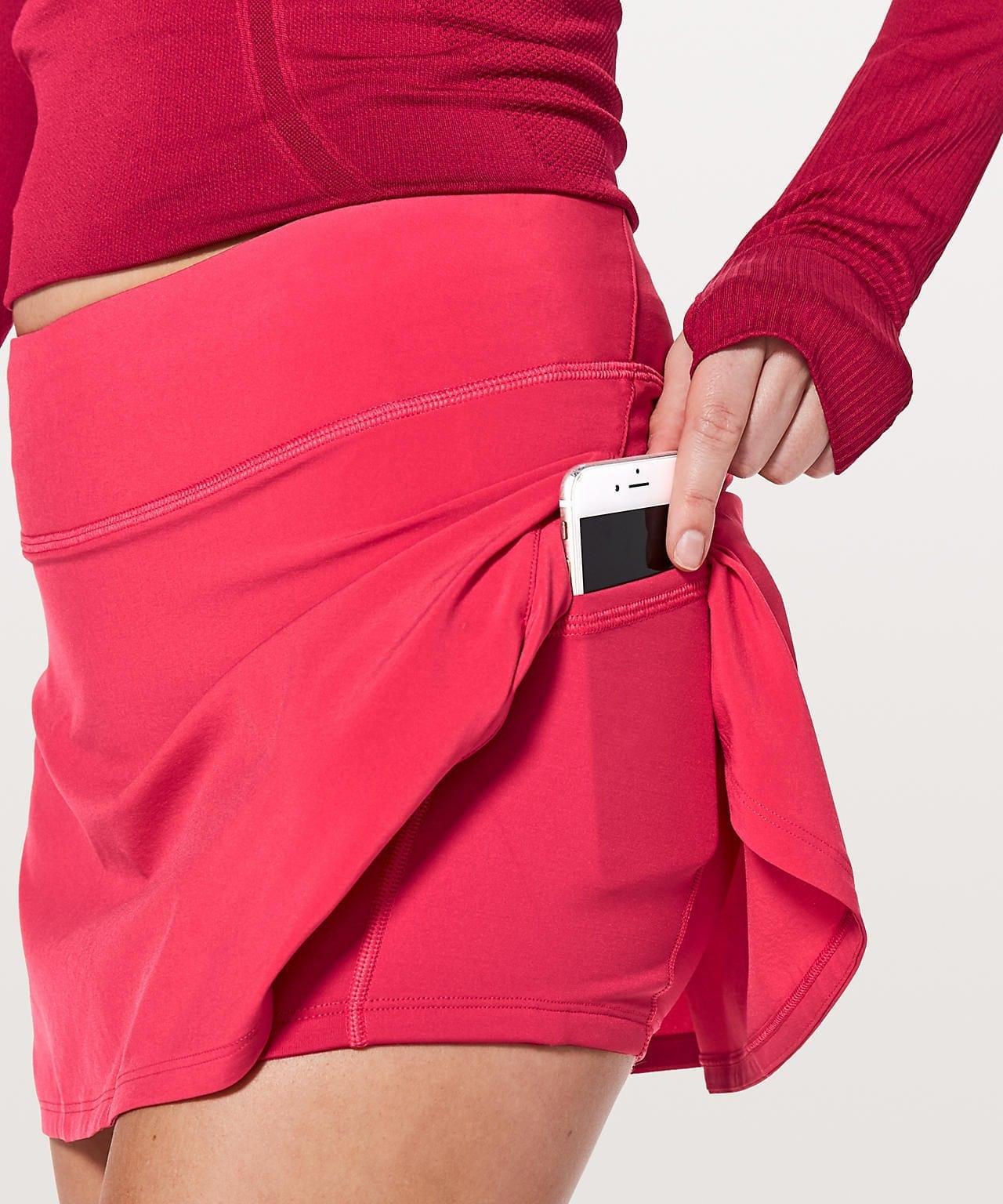 Play Off The Pleats Skirt - Fuchsia Pink