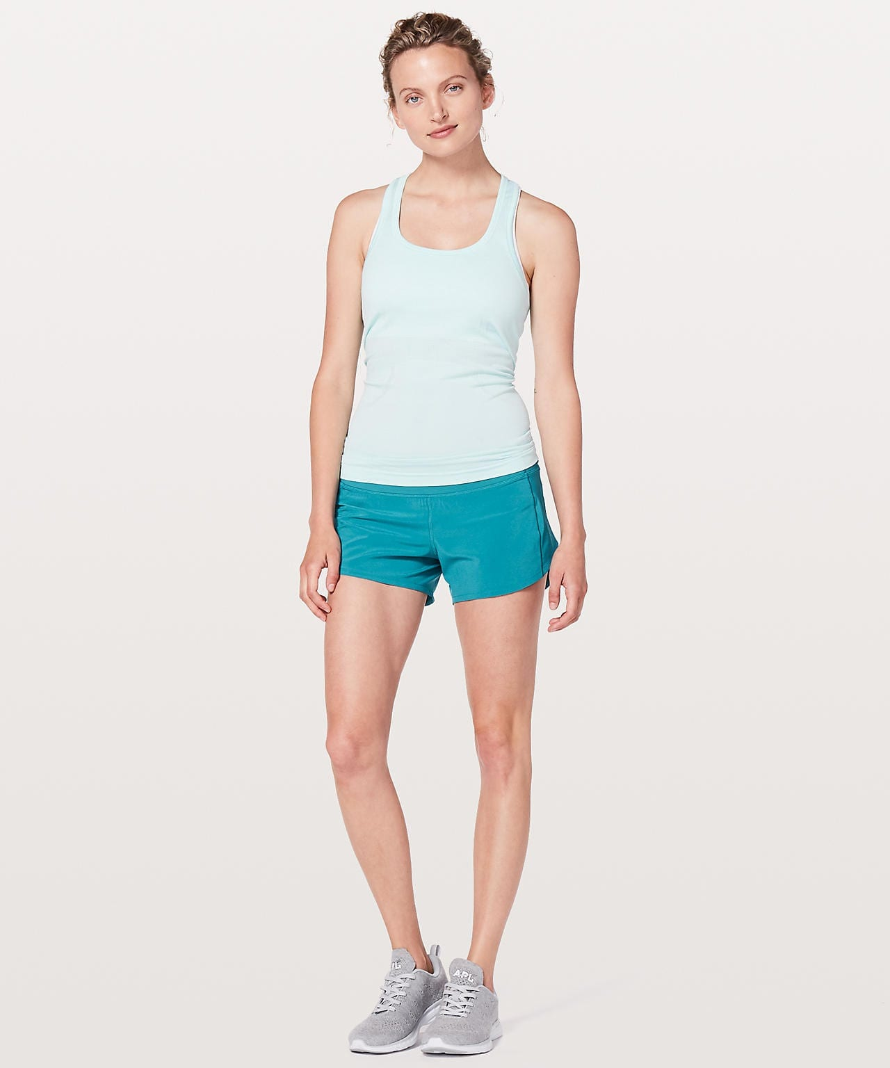 Lululemon Speed Up Short (Long) Teal Blue