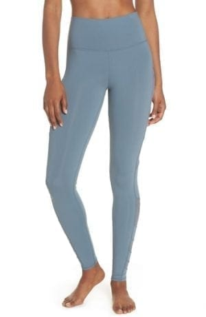 Alo Block High Waist Mesh Inset Leggings Concrete