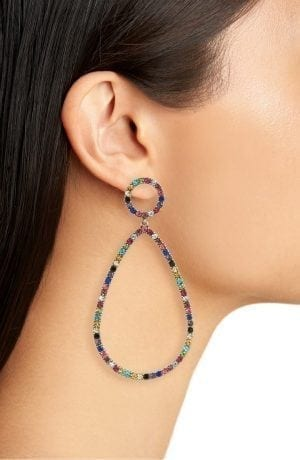 BaubleBar Genevieve Hoop Earrings