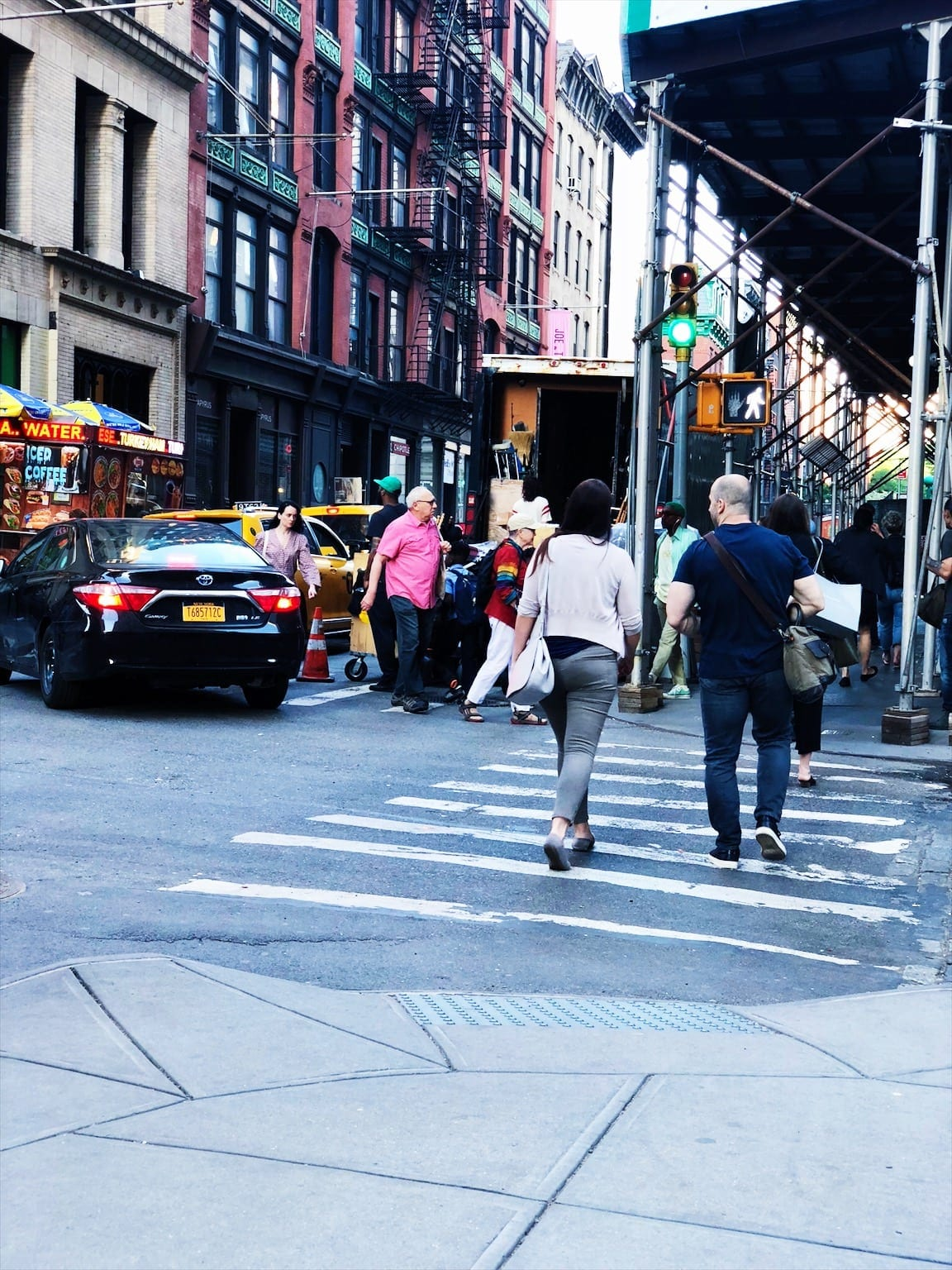 Busy Manhattan Crosswalk
