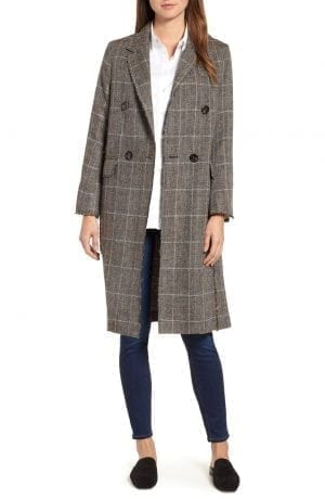 Double Breasted Plaid Coat SOSKEN