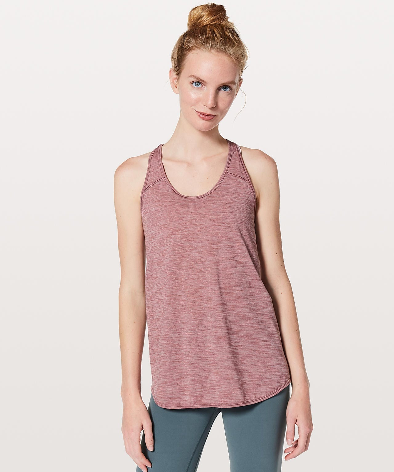 Essential Tank - Heathered Figue, Lululemon Upload