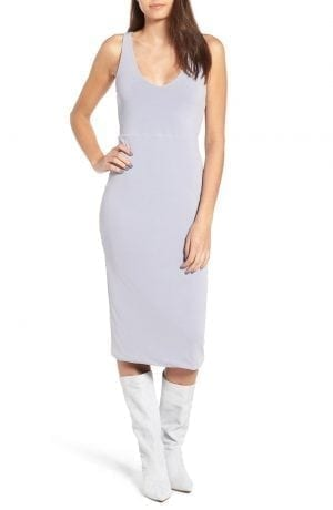 Leith Sleek Knit Midi Dress
