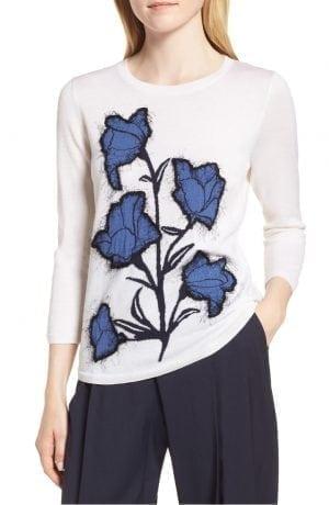 Lewit Eyelash Graphic Wool & Silk Sweater