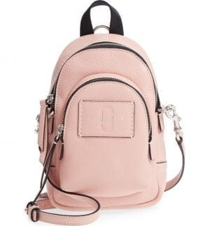 MARC JACOBS Mini Double Pack Leather Crossbody Bag Pearl Pink
