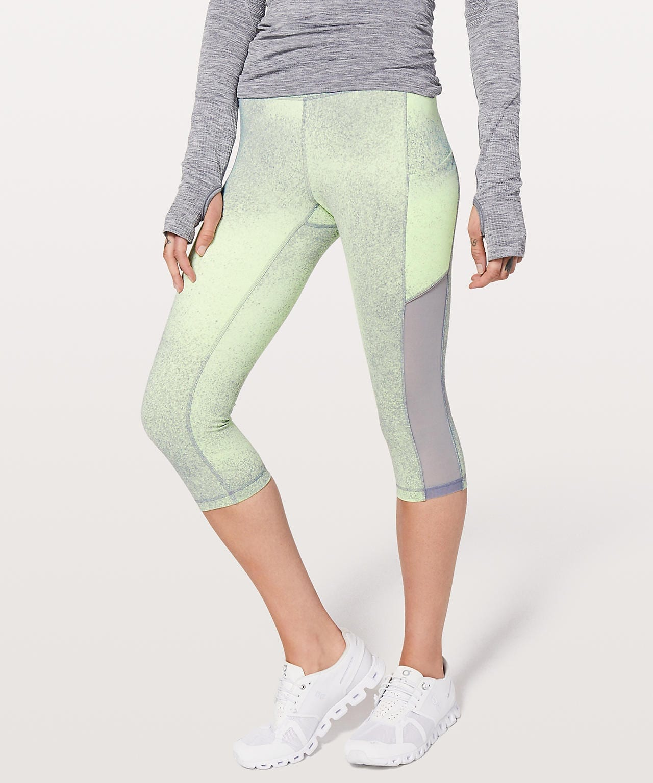 Lululemon Speed Up Crop - Ocean Spray Fluro