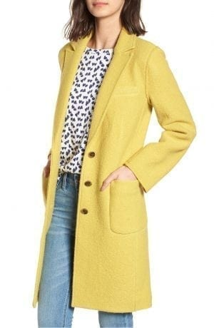 Olga Boiled Wool Topcoat J. CREW