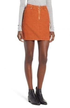 Topshop Cord Miniskirt