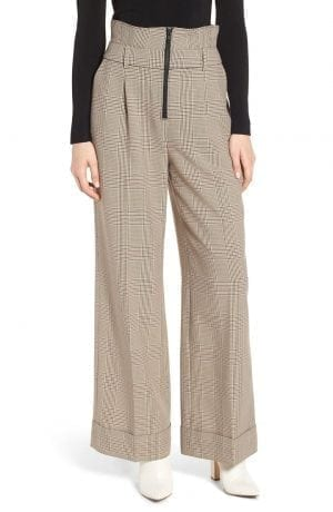 Trouvé High Waist Wide Leg Trousers
