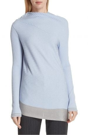 rag & bone Reanna Asymmetrical Merino Wool Sweater