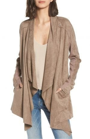 BlankNYC CLOUD NINE DRAPE JACKET Tan | NORDSTROM Anniversary Sale 2018