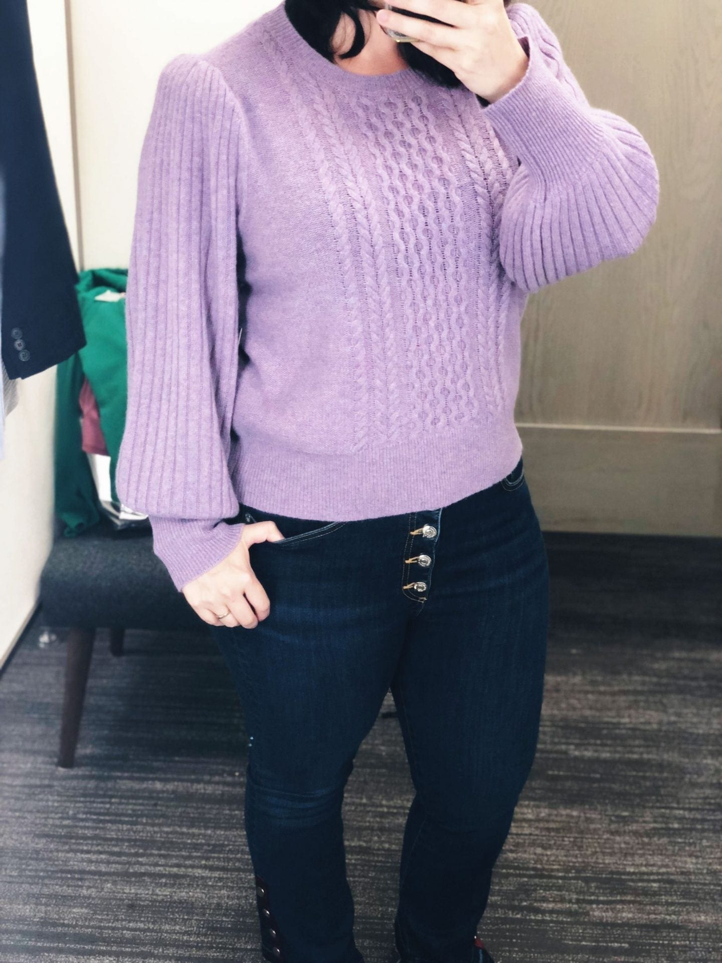 Cable Cashmere Sweater NORDSTROM SIGNATURE, Nordstrom Anniversary Sale 2018 Fitting Room Try Ons