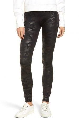 Spanx Camo Faux Leather Legging