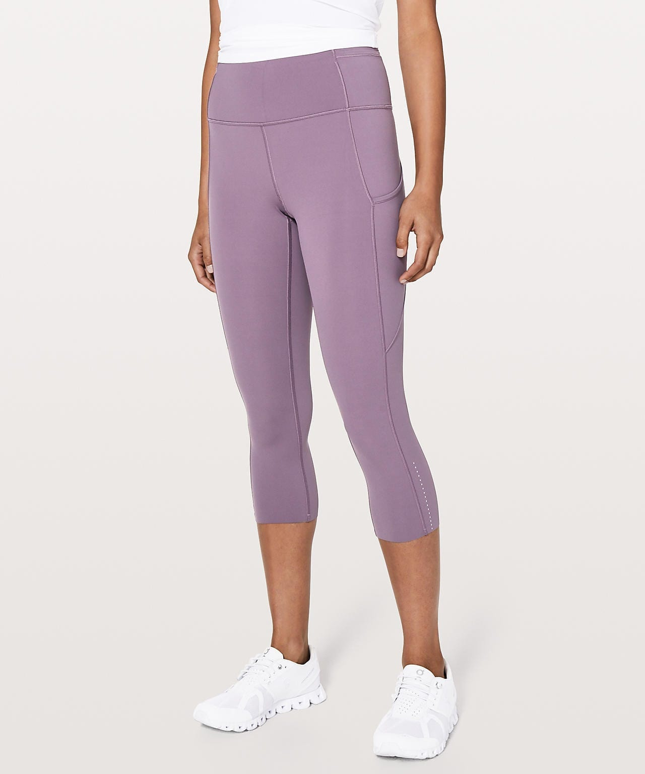 Lululemon - Fast & Free Crop II Smoked Mulberry