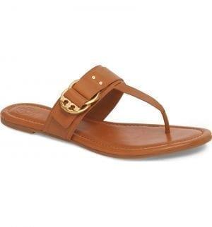 Marsden Flat Thong Sandal TORY BURCH Tan