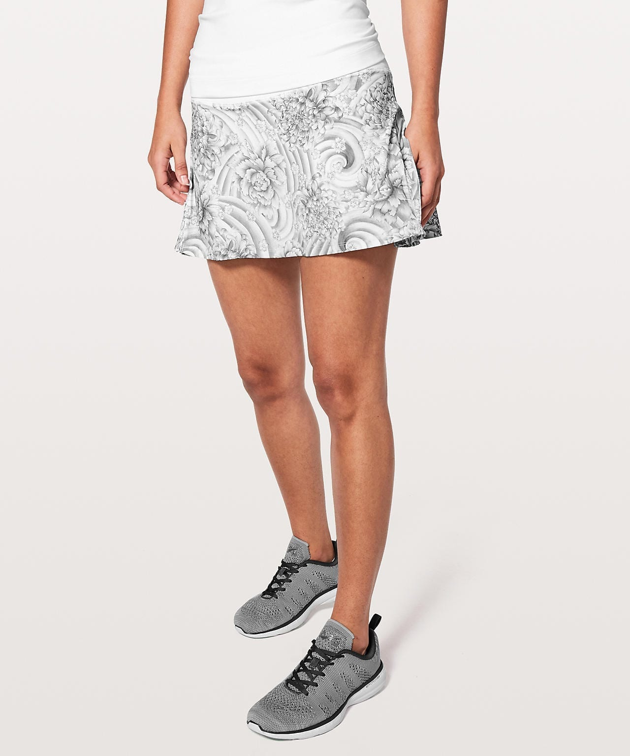Play Off The Pleats Skirt Mini Twine White Multi
