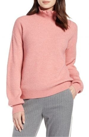 Ruffle Neck Sweater HALOGEN®