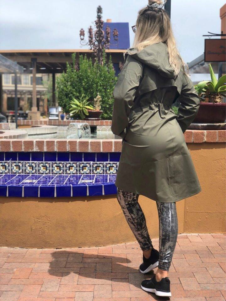 Crinkle Heather Brindle High Shine Foil Wunder Unders, Rain Coat