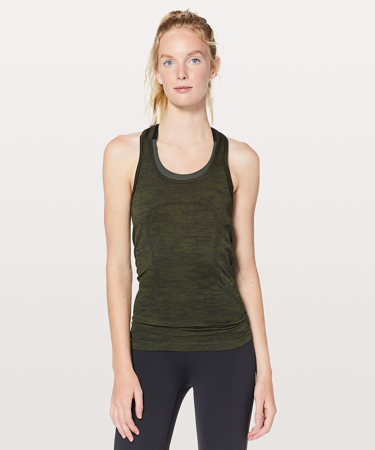 Swiftly Tech Racerback Dark Olive