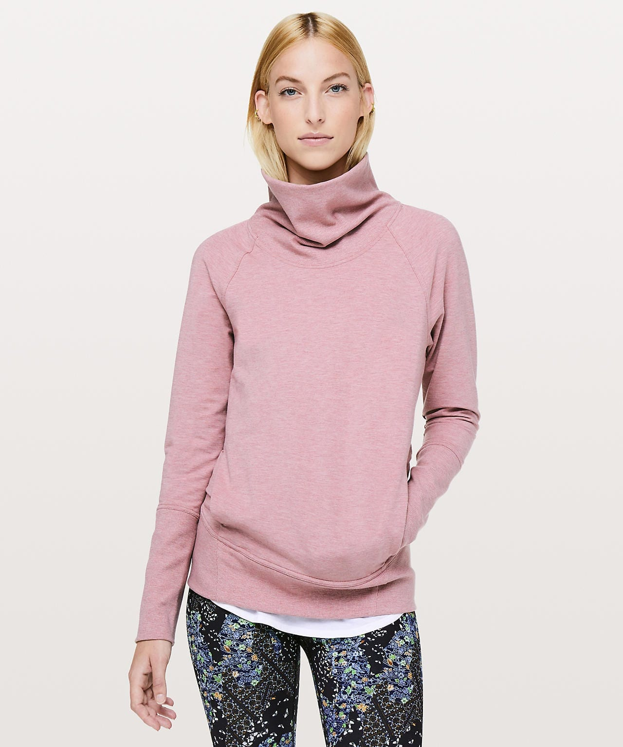High Lines Pullover, Heathered Vintage Mauve