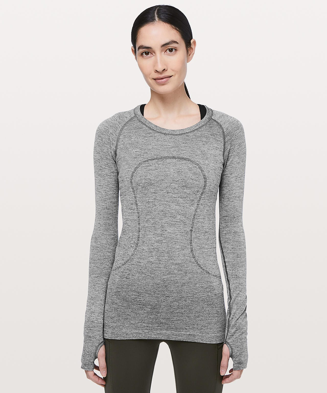 Swiftly Tech Long Sleeve Crew Sparkle