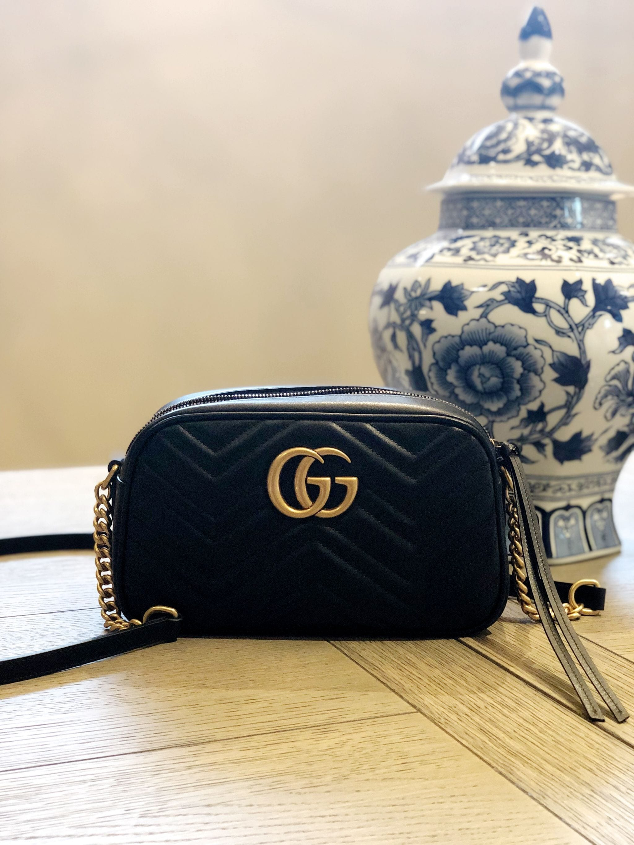 8266e0e48585 Gucci Marmont Small Matelassé Shoulder Bag