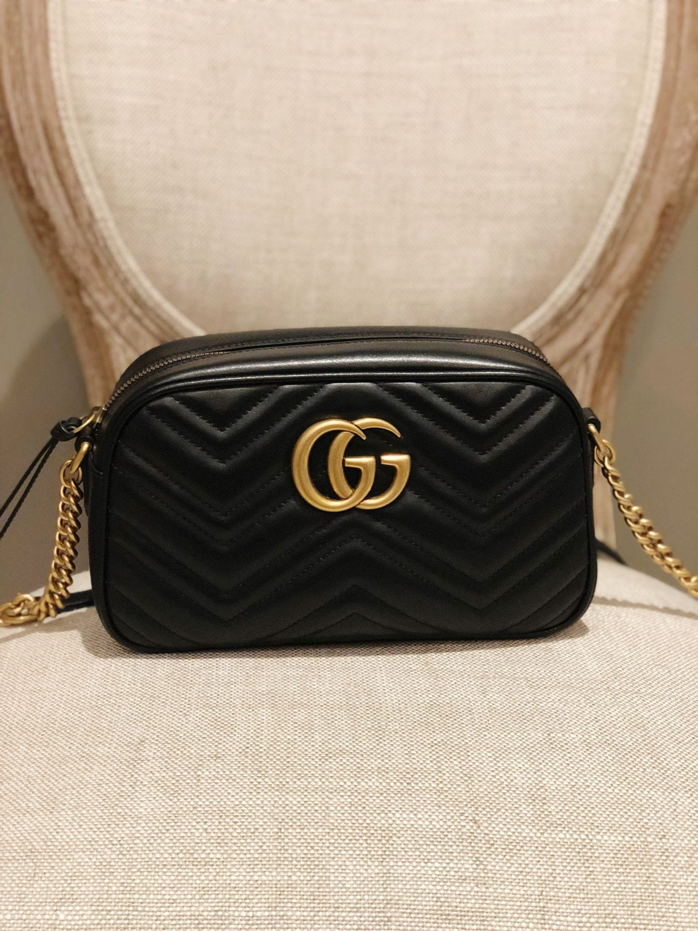 51df0156fa9b Gucci Marmont Small Matelassé Shoulder Bag
