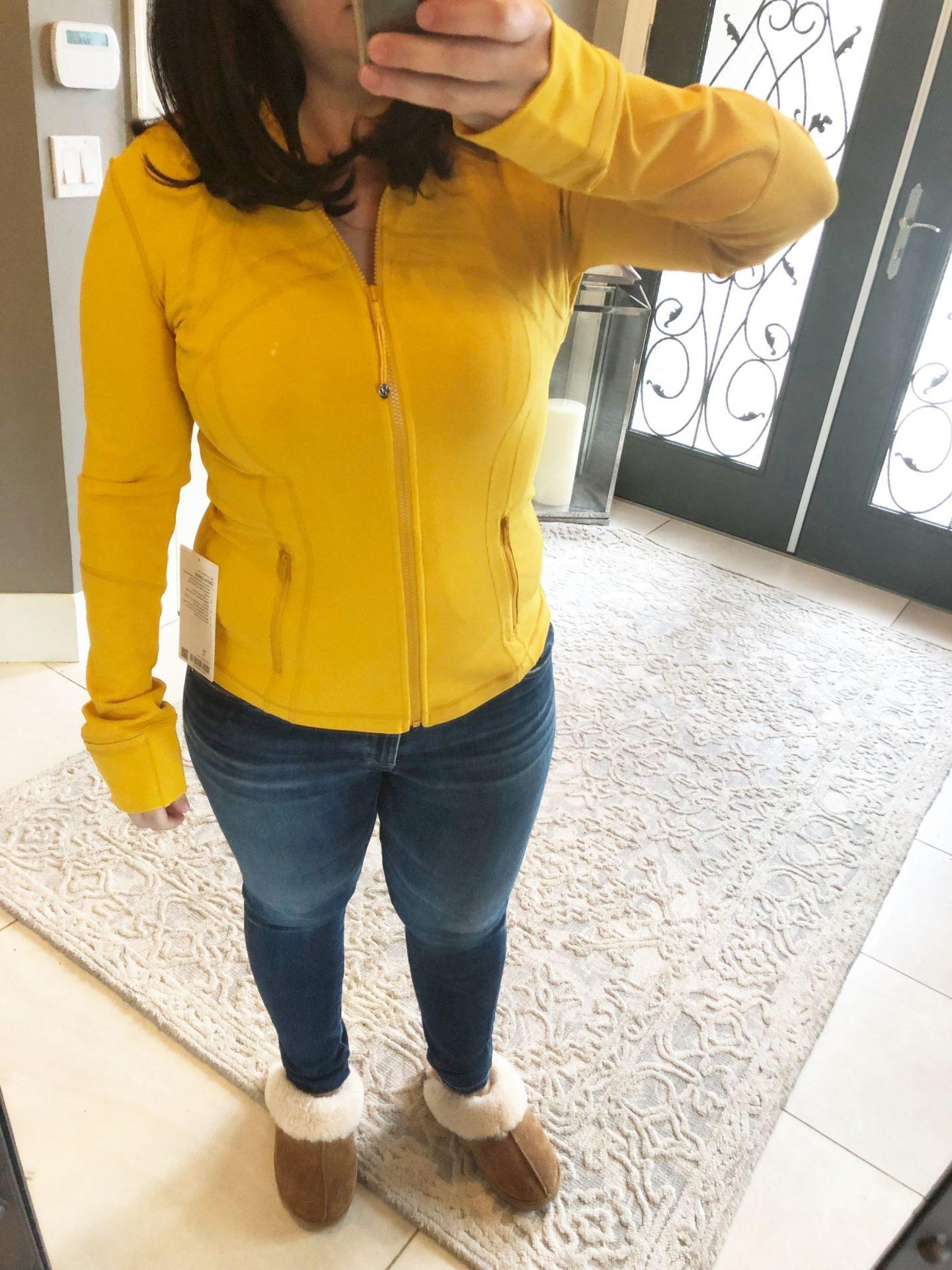 Lululemon Define Jacket Honey Lemon