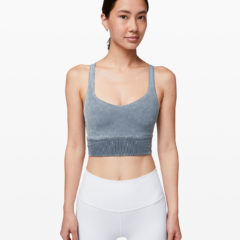 Free To Be Bra Long Line Rib Snow Wash, Washed Blue Moon
