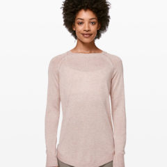 Lead With Your Heart Sweater, Heathered Pink Bliss, Lululemon Upload
