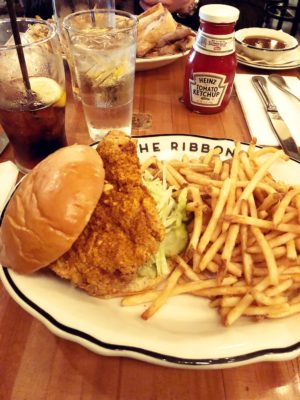 The Ribbon, NYC, Upper West Side, Chicken Burger, My Favorite NYC Restaurants