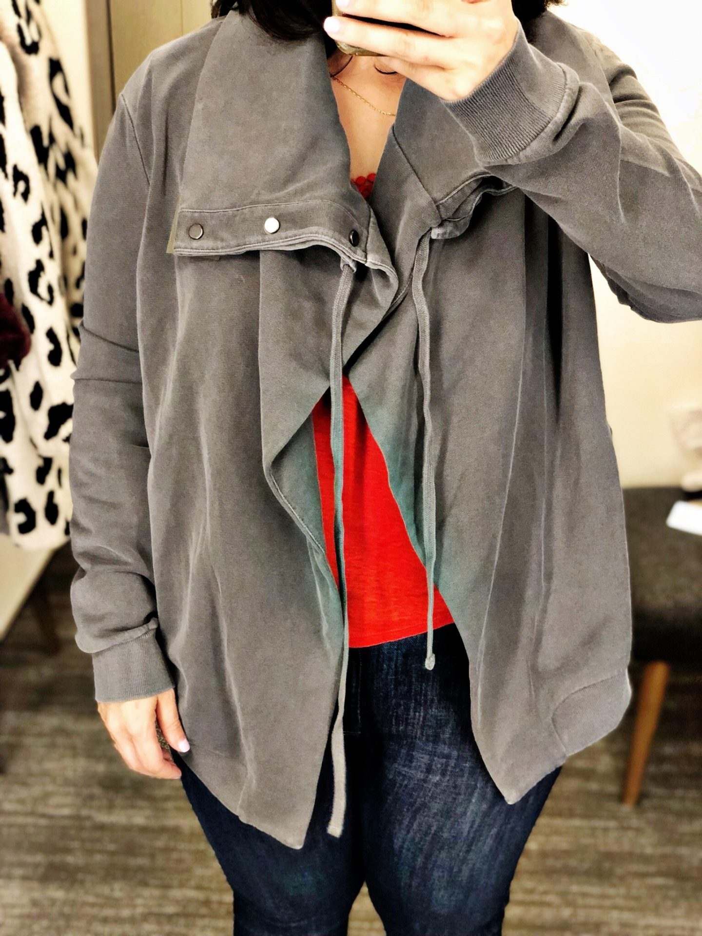 ALLSAINTS Brooke Knit Jacket | Anniversary Sale 2019 Dressing Room Selfies