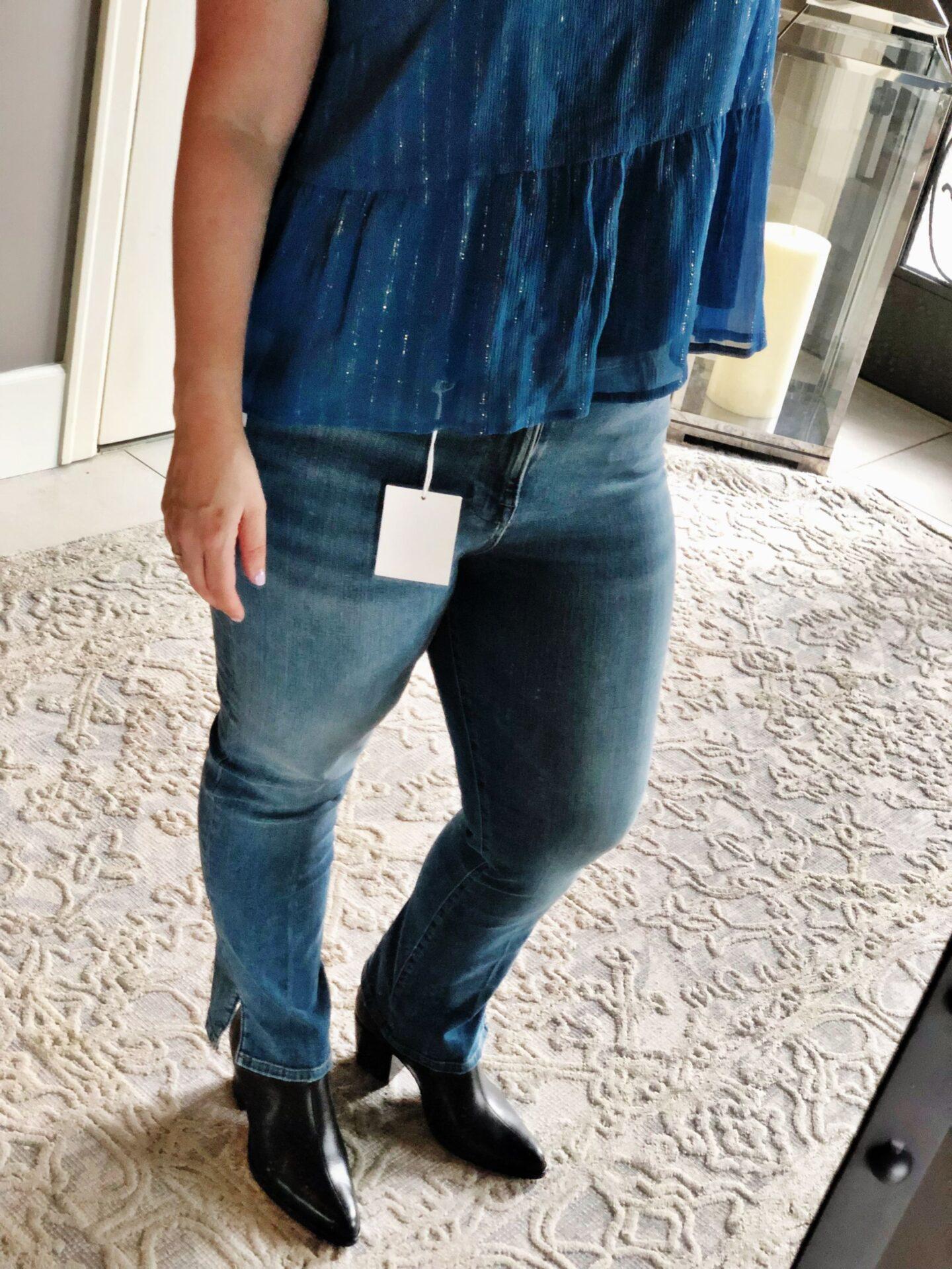 Nordstrom Anniversary Sale 2019 | Frame Le High Straight Slit Hem Ankle Jean, Vince Havana Notched Bootie