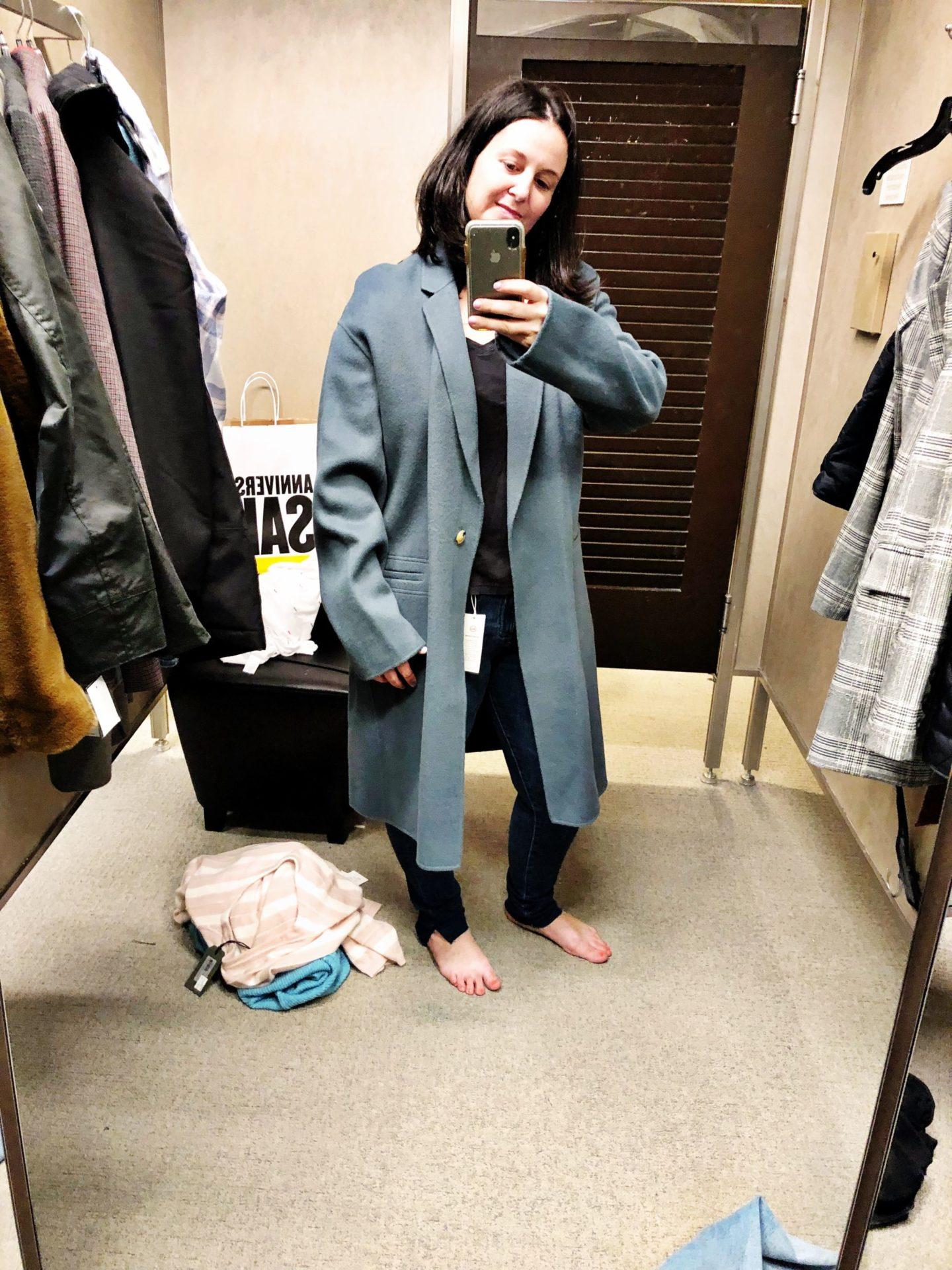 Double Face Wool Blend Coat VINCE
