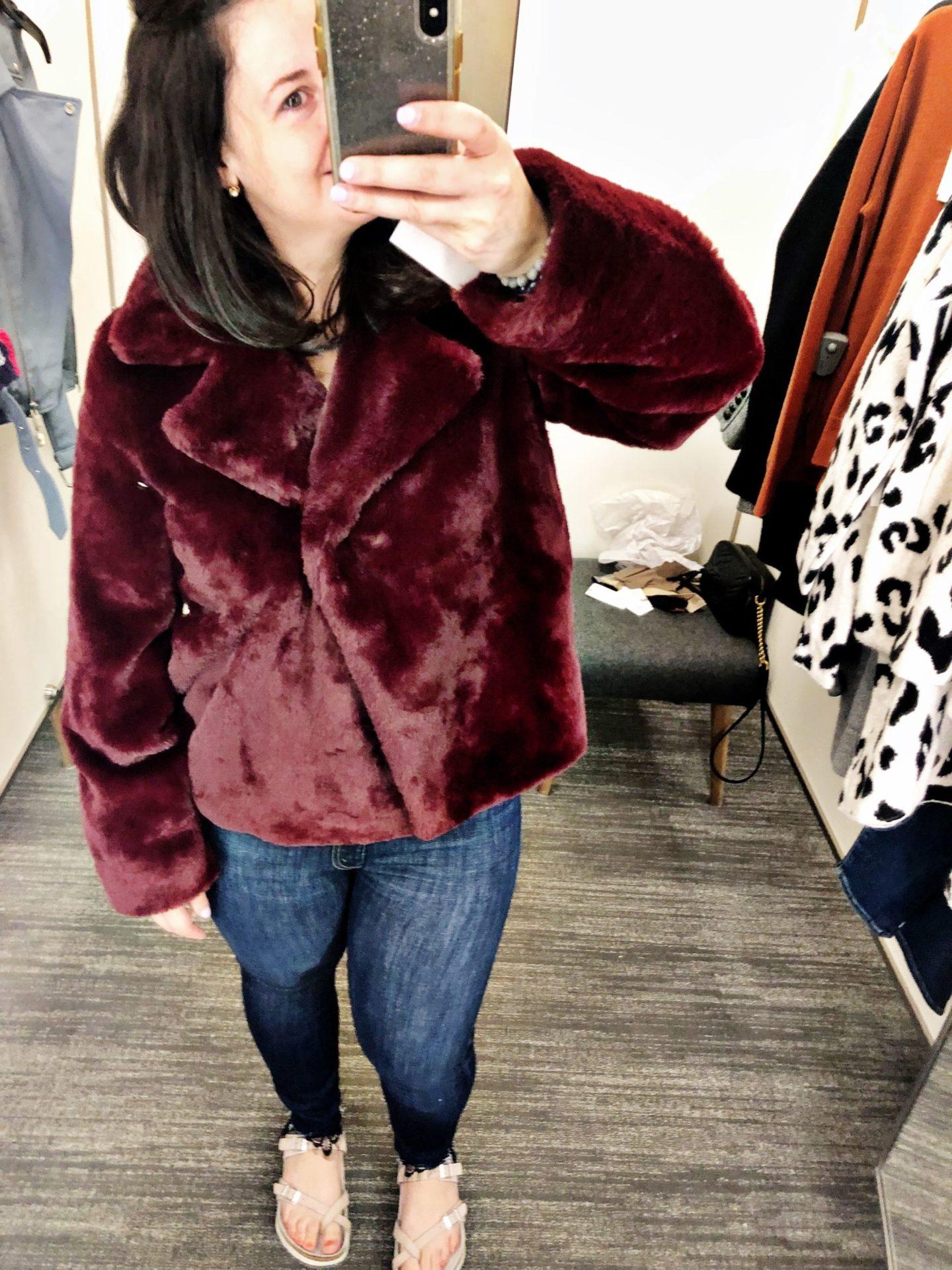 Frame Short Faux Fur Coat | Anniversary Sale 2019 | Nordstrom Canada Anniversary Sale