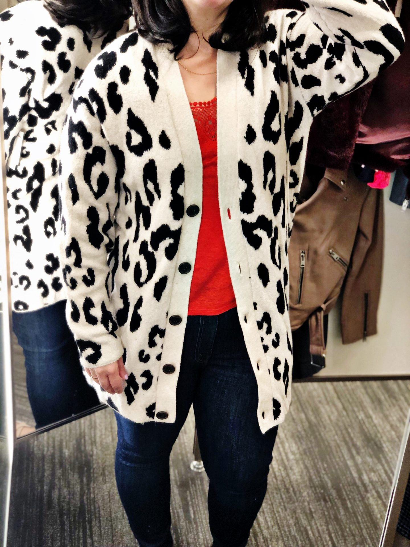 Something Navy Leopard V-Neck Cardigan | Anniversary Sale 2019